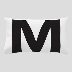 Letter M Black Pillow Case