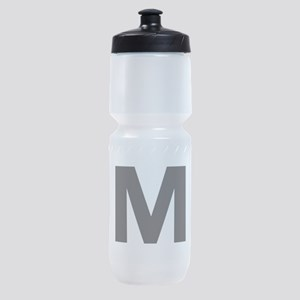 Letter M Black Sports Bottle