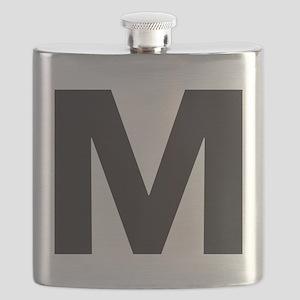 Letter M Black Flask