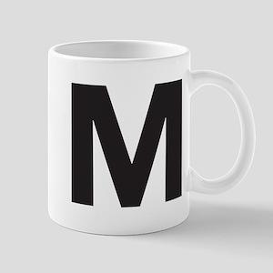 Letter M Black Mugs
