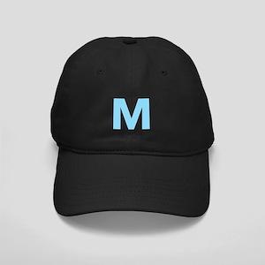 Letter M Light Blue Baseball Hat