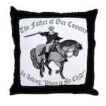 George Washington, Where's My Child Throw Pillow