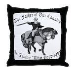 George Washington, What Happened? Throw Pillow
