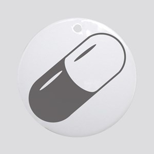 Grey Capsule Ornament (Round)