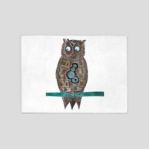 Steam Punk Owl 5'x7'Area Rug