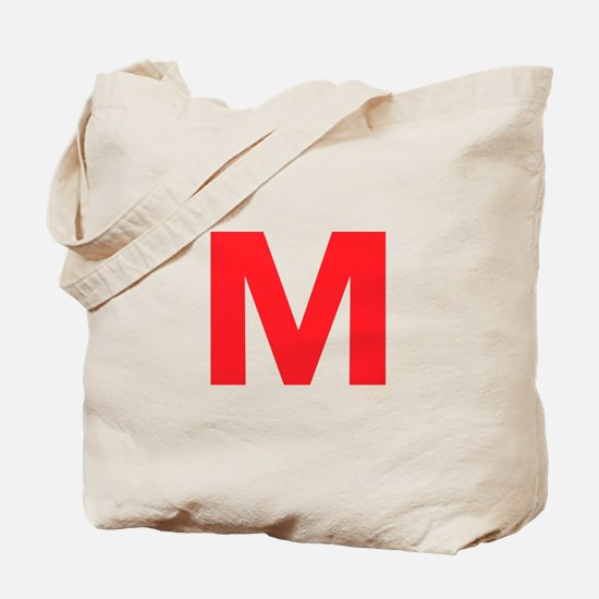 Letter M Red Tote Bag