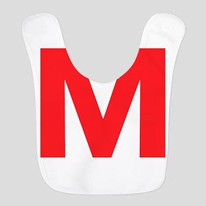Letter M Red Bib