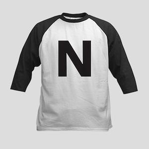 Letter N Black Baseball Jersey