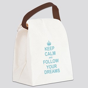 Keep Calm and Follow your Dreams Canvas Lunch Bag