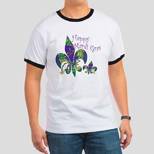 Mardi Gras Carnival Fleur de lis Ringer T