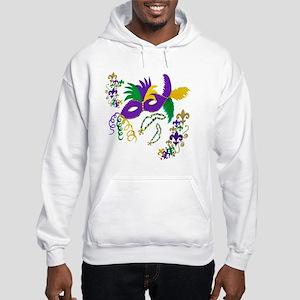 Mardi Gras Mask art Hooded Sweatshirt