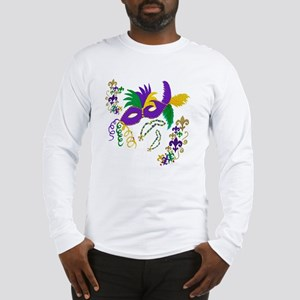 Mardi Gras Mask art Long Sleeve T-Shirt