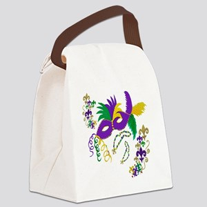Mardi Gras Mask art Canvas Lunch Bag