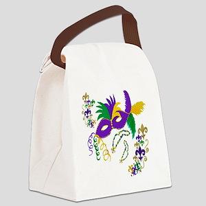Mardi Gras Mask art Canvas Lunch Bag