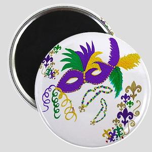 Mardi Gras Mask art Magnet