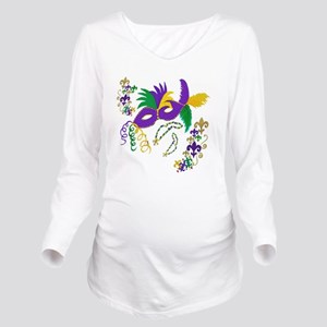 Mardi Gras Mask art Long Sleeve Maternity T-Shirt