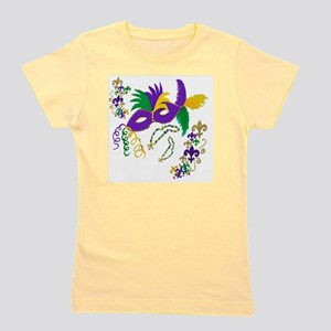 Mardi Gras Mask art Girl's Tee