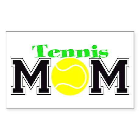 Tennis Mom Rectangle Sticker