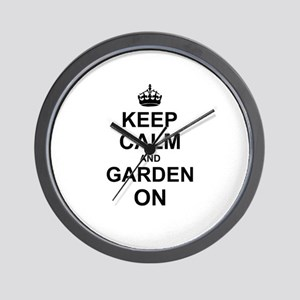 Keep Calm and Garden on Wall Clock