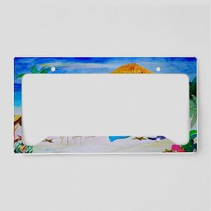 Mermaid Tiki Bar License Plate Holder