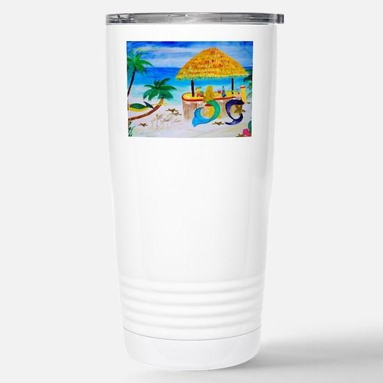 Mermaid Tiki Bar Stainless Steel Travel Mug