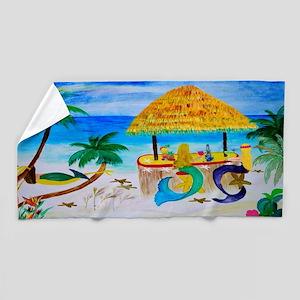 Mermaid Tiki Bar Beach Towel