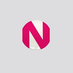 Letter N Pink Mini Button