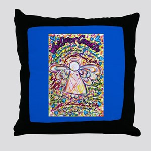 Spring Heart Cancer Angel Throw Pillow