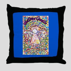 Spring Heart Cancer Angel Throw Pillow