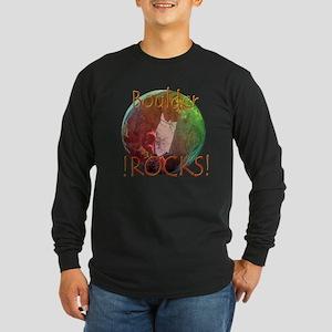 BOULDER ROCKS!! Long Sleeve Dark T-Shirt