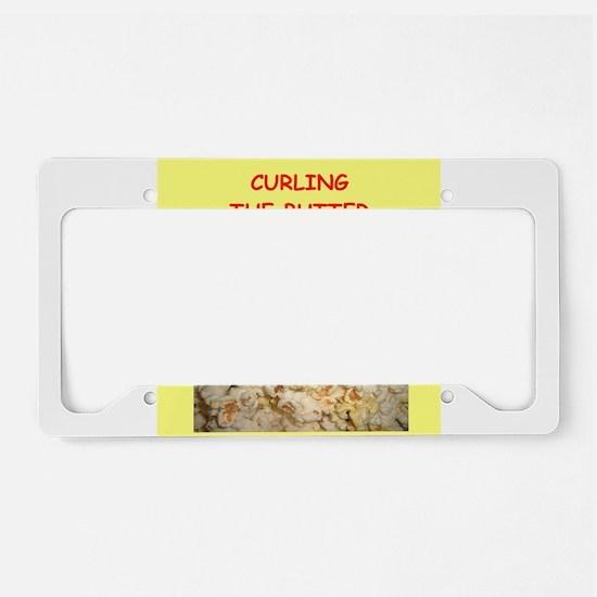curling License Plate Holder