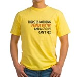 Peanut Butter and Spoon Yellow T-Shirt
