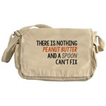 Peanut Butter and Spoon Messenger Bag
