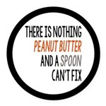 Peanut Butter and Spoon Round Car Magnet