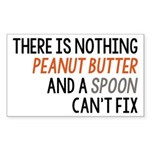 Peanut Butter and Spoon Sticker (Rectangle 10 pk)