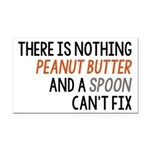 Peanut Butter and Spoon Rectangle Car Magnet
