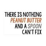 Peanut Butter and Spoon 35x21 Wall Decal