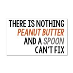 Peanut Butter and Spoon Car Magnet 20 x 12
