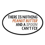 Peanut Butter and Spoon Sticker (Oval)
