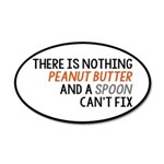 Peanut Butter and Spoon 20x12 Oval Wall Decal
