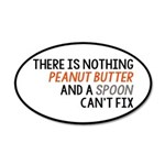 Peanut Butter and Spoon 35x21 Oval Wall Decal