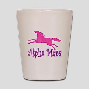 alpha mare horse Shot Glass