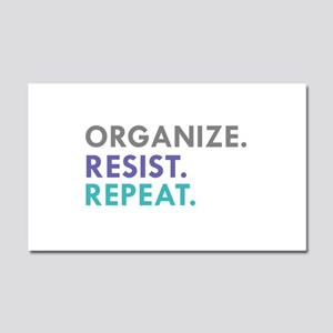 ORGANIZE. RESIST. REPEAT. Car Magnet 20 x 12