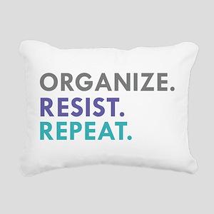 ORGANIZE. RESIST. REPEAT. Rectangular Canvas Pillo