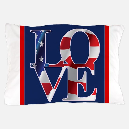Patriotic Love America Pillow Case