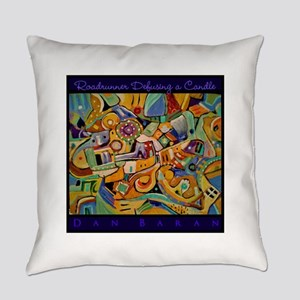 Roadrunner Defusing a Candle Everyday Pillow