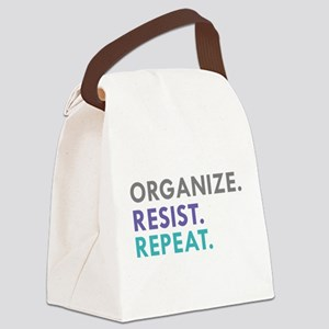 ORGANIZE. RESIST. REPEAT. Canvas Lunch Bag