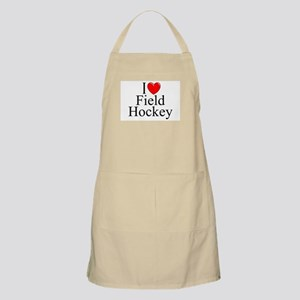 """I Love (Heart) Field Hockey"" BBQ Apron"