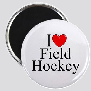"""""""I Love (Heart) Field Hockey"""" Magnet"""