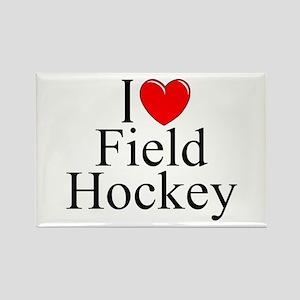 """""""I Love (Heart) Field Hockey"""" Rectangle Magnet"""